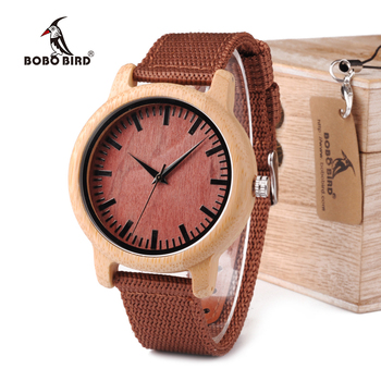 BOBO BIRD WD09 2017 Pretty Wood Wristwatches Japan Miyota Movement Watch Fashion Brand Designer Bamboo Wooden Watches OEM Network Switches