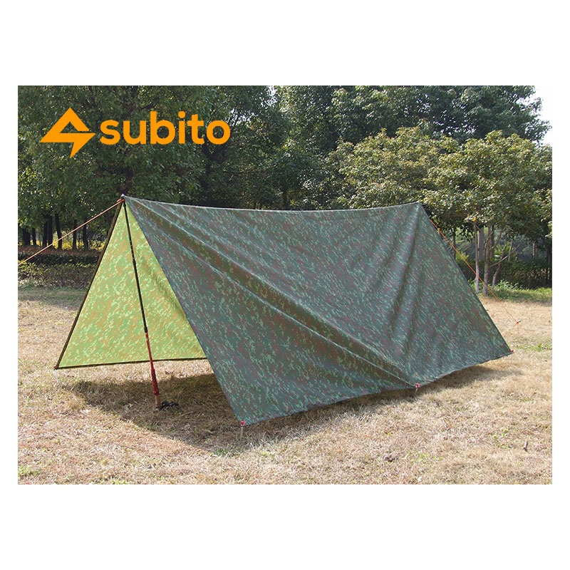 SUBITO Ultralight Sun Shelter Camping Mat Beach Tent Pergola Awning Canopy Tarp Camping Barbecue And Picnic 3X3M Ground Fabric 2 1 5m outdoor tarp sun shelter high quality awning camping