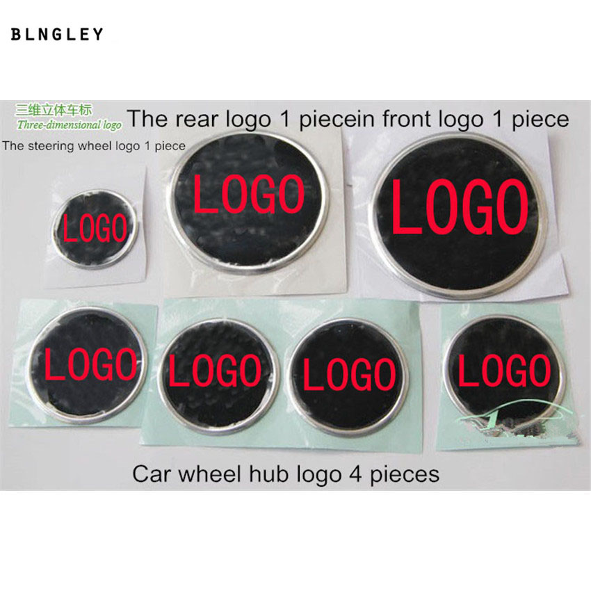 The 3D car stickers of steering wheel, wheel hub,the front and the rear of the logo for Skoda Octavia Fabia Superb 2 5m car rubber carbon stickers for skoda fabia octavia front lip bumper decoration for vw auto exterior stickers for toyota