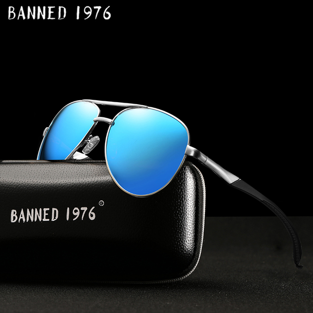 4f56410e6e HD Polarized Men Vintage Aluminum Sunglasses Classic Brand driving Sun  glasses metal frame Driving Shades For Men Women oculos