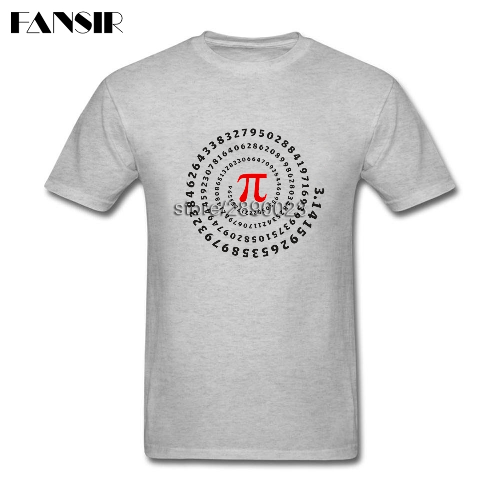Summer Fashion Pi Science Math Irrational Number Sequence T-shirt Mens Short Sleeve O-neck Cotton T Shirt Homme Asian Size