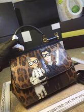 2016 new winter palm print cartoon Shoulder Handbag fashion Leather Shoulder Messenger Bag