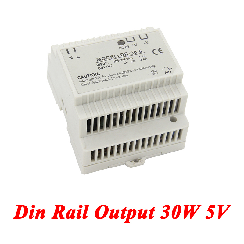 DR-30 Din Rail Power Supply 30W 5V 3A,Switching Power Supply AC 110v/220v Transformer To DC 5v,Led Driver