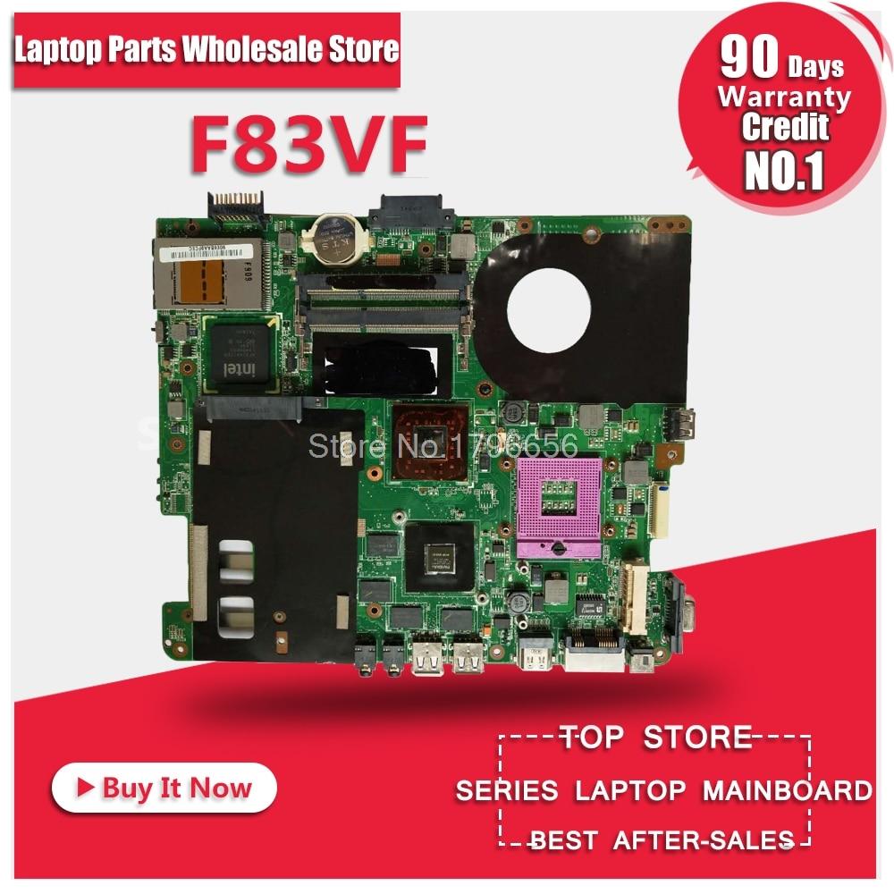 F83VF 1GB PM45 motherboard For Asus F83VF X88V F83VD K41V Laptop motherboard Mainboard 1 piece 2 5mm dc charging power jack connector plug dc socket for asus f83cr f83t x88v f83vf k41v dc 012