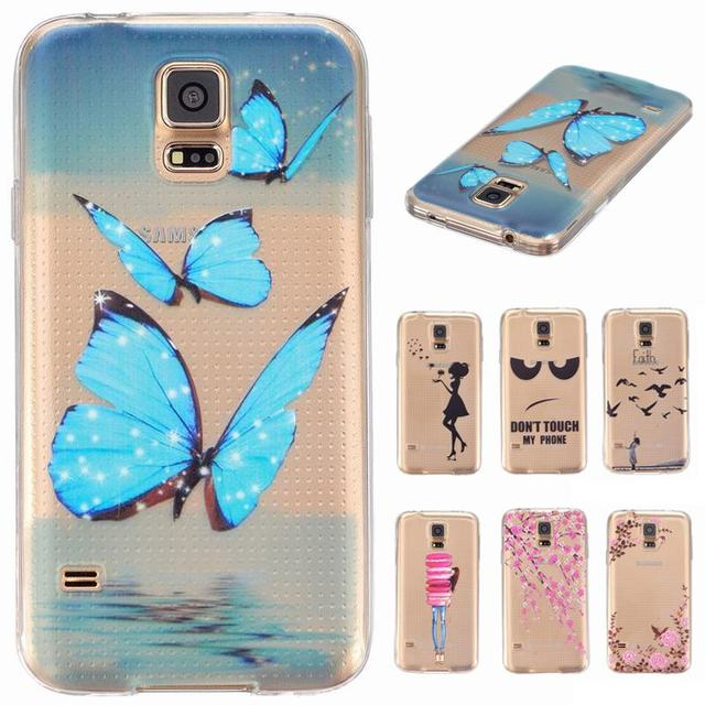 For Capas Samsung Galaxy S5 S5neo S5 neo Case Transparent Silicone S5 cover For coque Samsung Galaxy S5 SM-G903F Cover Cases