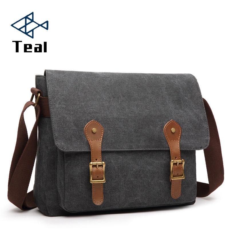Canvas Men Messenger Bags High Quality Vintage Leisure Shoulder Bag Large Capacity Fashion Man Male