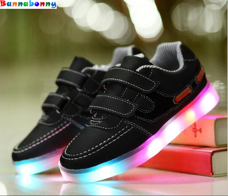Newest fashion luminous sneakers for girls&boys and kids Led glowing sneakers with USB charge children's shoes EUR size 25-37
