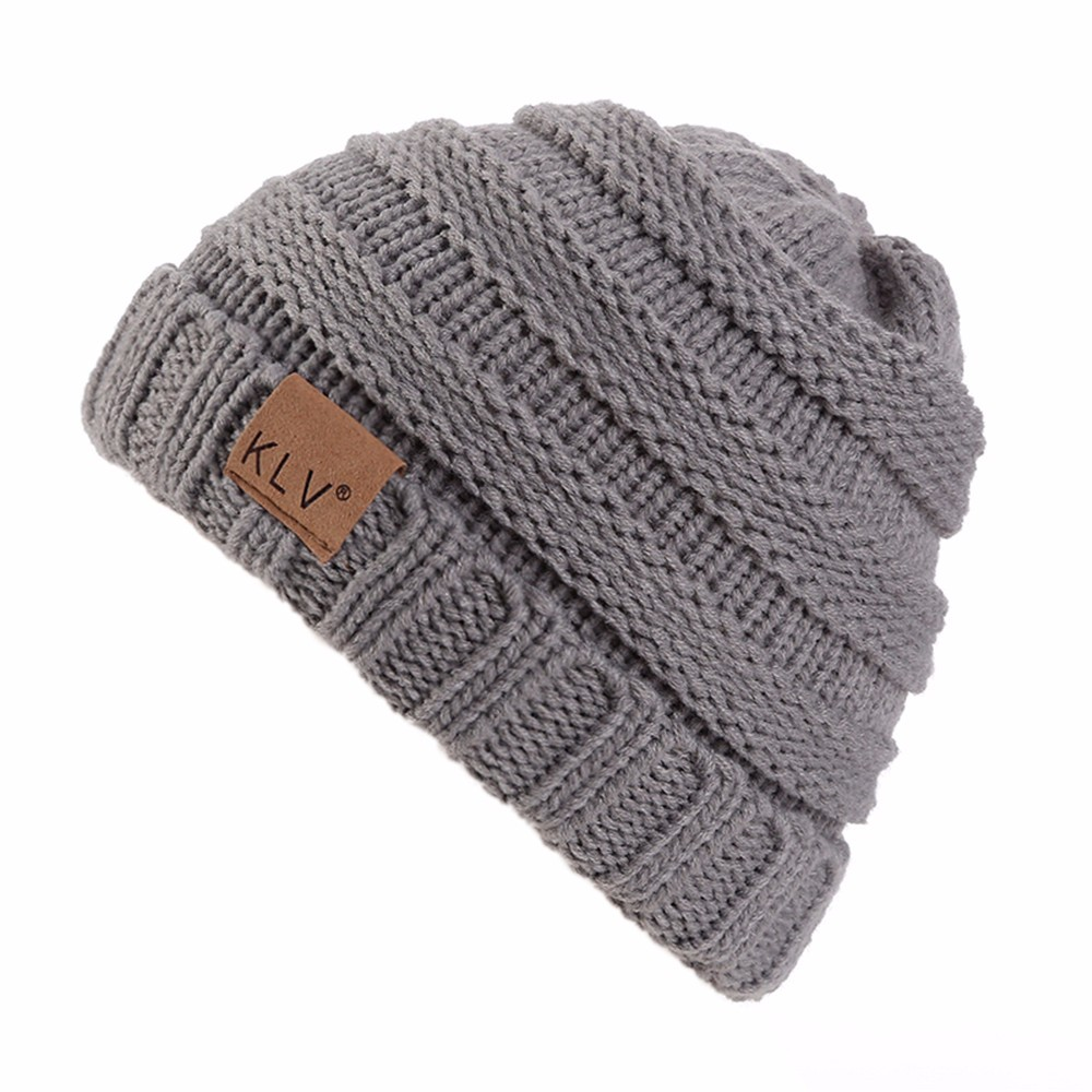 Women Men Winter Hat Solid Knitted Warm Skull Cap Beanie Hat Hair accessories Fold Touca Inverno#121
