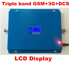 2G 3G 4G signal repeater GSM 900 WCDMA 2100 DCS 1800 Tri Band Mobile Phone Signal Booster 65dB Cellular Repeater 3G 4G Amplifier