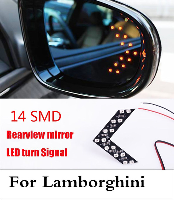 Smd Led Arrow Panel Car Rear View Mirror Turn Signal Light For