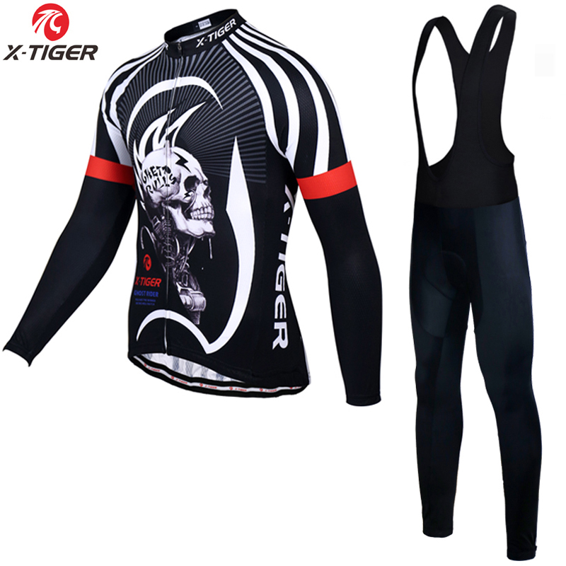 X-Tiger Long Sleeve Cycling Jersey Set MTB Bicycle Clothing Maillot Ropa De Ciclismo Hombre Racing Bike Wear Clothes Cycling Set цены
