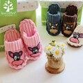 Pequeño animal lindo de Los Niños del hogar zapatos niños zapatillas zapatos de algodón de invierno buena calidad keep warm niños de dibujos animados zapatillas