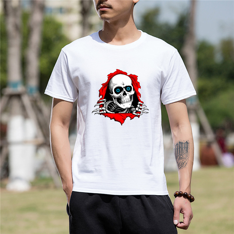 Men Clothes Short Sleeve Tshirt Hot High Quality Funny The Art Work Of Powell Peralta Print Cotton Funny T Shirt Men