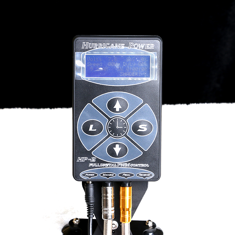 hp-2-hurricane-tattoo-power-supply-digital-power-lcd-display-black-silver-white-for-kits-machine