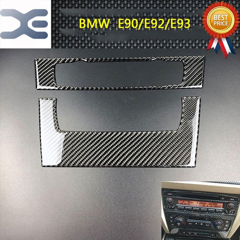 Carbon Fiber Center Console Decoration Sticker Interior Mouldings FOR BMW 05 12 E90 E92 E93 3 Series Interior Accessories
