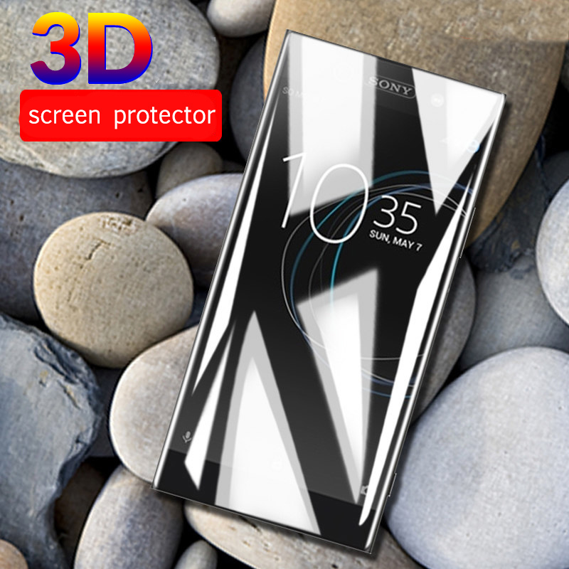 3D Curved For Sony Xperia XA1 Plus L3 10 XA2 Plus Tempered Glass For Soni Experia XZ4 XZ3 Ultra XZ Premium XA 1 Full Cover Films(China)