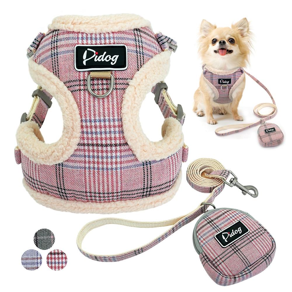 Pet - Soft Pet Dog Harnesses Vest No Pull Adjustable Chihuahua Puppy Cat Harness Leash Set For Small Medium Dogs Coat Arnes Perro