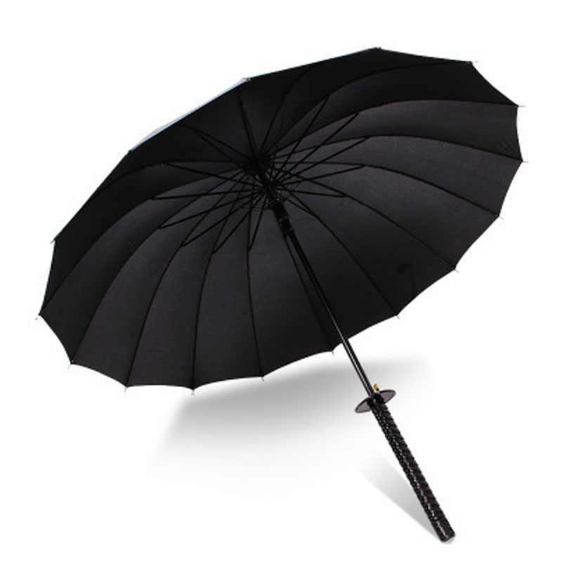 2620093cdb24 Huge Long Handle Large Windproof Samurai Sword Umbrella Japanese ...