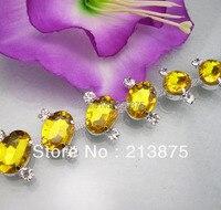Freies verschiffen Diy glas & harz Gold gelb Oval Schildkröte oberfläche silber klaue kette hochzeit kleidung dekoration 1 Yard 04