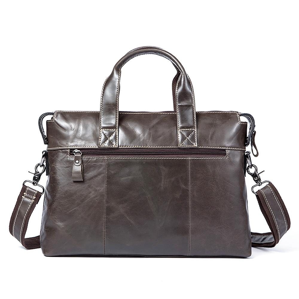 Genuine Leather Handbag Briefcase For Men Business Cowhide Casual Crossbody Bag Laptop Computer Bag Messenger Bag Saco Homens