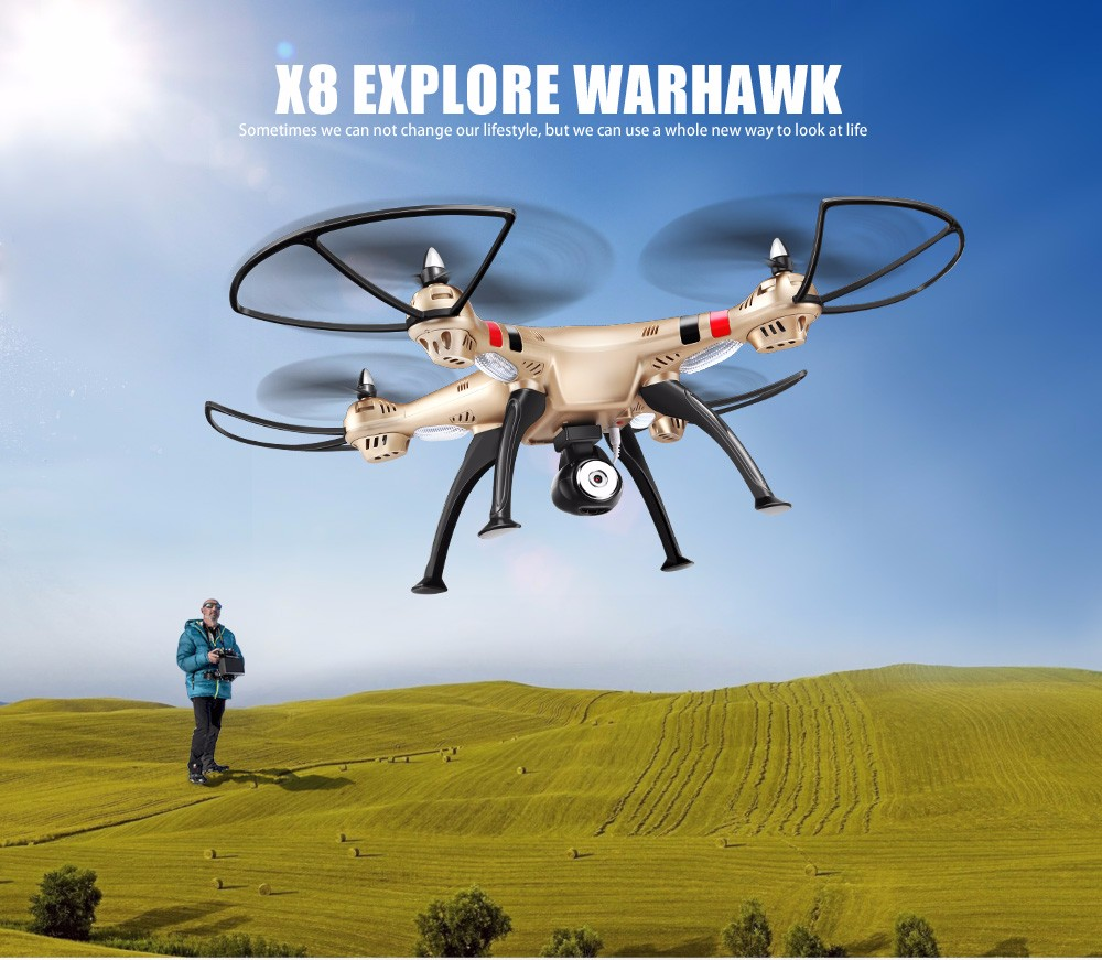 SYMA Official X8HW FPV RC Drone with WiFi HD Camera Real-time Sharing Drones Helicopter Quadcopter Dron with Hovering Function 3