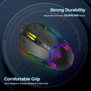 Image 5 - VicTsing Wired RGB Gaming Mouse 7 Programmable Buttons 7200 DPI Adjustable Optical Gaming Mouse Ergonomic USB Computer Mice