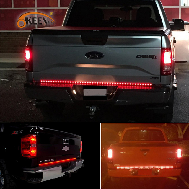 Okeen 60 inch led truck tailgate light bar strip red reverse brake okeen 60 inch led truck tailgate light bar strip red reverse brake stop turn signal parking aloadofball Image collections