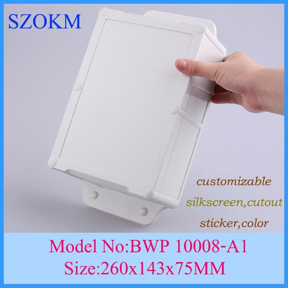 4 pcs/lot mount box IP 68 waterproof enclosures abs material Good Quality diy cabinet 260x143x75mm4 pcs/lot mount box IP 68 waterproof enclosures abs material Good Quality diy cabinet 260x143x75mm