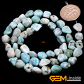 "Larimar: 5x6mm Freeform Potato Shape Larimar Beads Natural Larimar DIY Loose Beads For Bracelet Making Strand 15"" Wholesale!"
