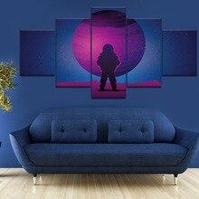Frame 5 Piece Canvas Art Astronaut Purple Planet Cuadros Decoracion Paintings on Canvas Wall Art for Home Decorations Wall Decor estes planet purple crayon