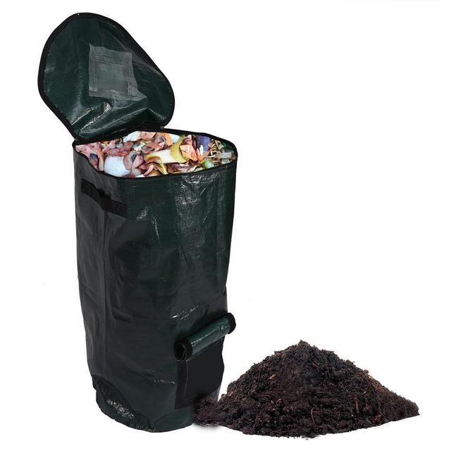 2 Sizes Garbage Bag Organic Waste Kitchen Rubbish Storage Bags Garden Yard Compost Environmental Pe