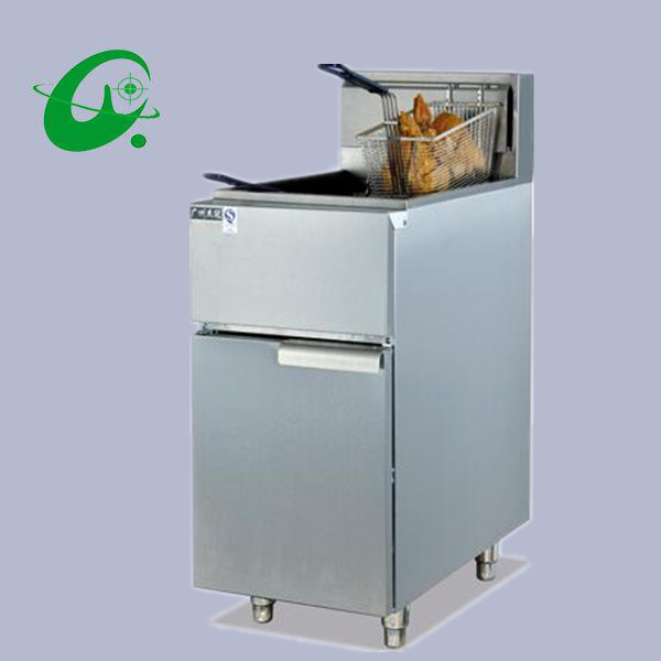 цена на Vertical gas temperature fryer with 2tank fryer 2basket 30L French fries Duck Counter top Deep Fryer with temperature controller
