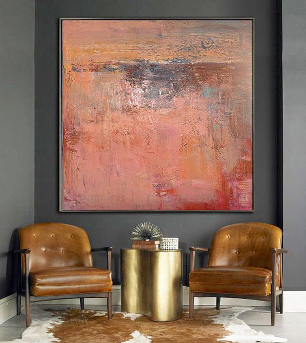 Hand Painted Modern Large Abstract Art Home Decor Hang Picture Handmade Oil Painting On Canvas Contemporary Wall Artwork Paints