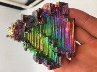 170 195g Bismuth rainbow bright crystal geode weight element Bi Mineral