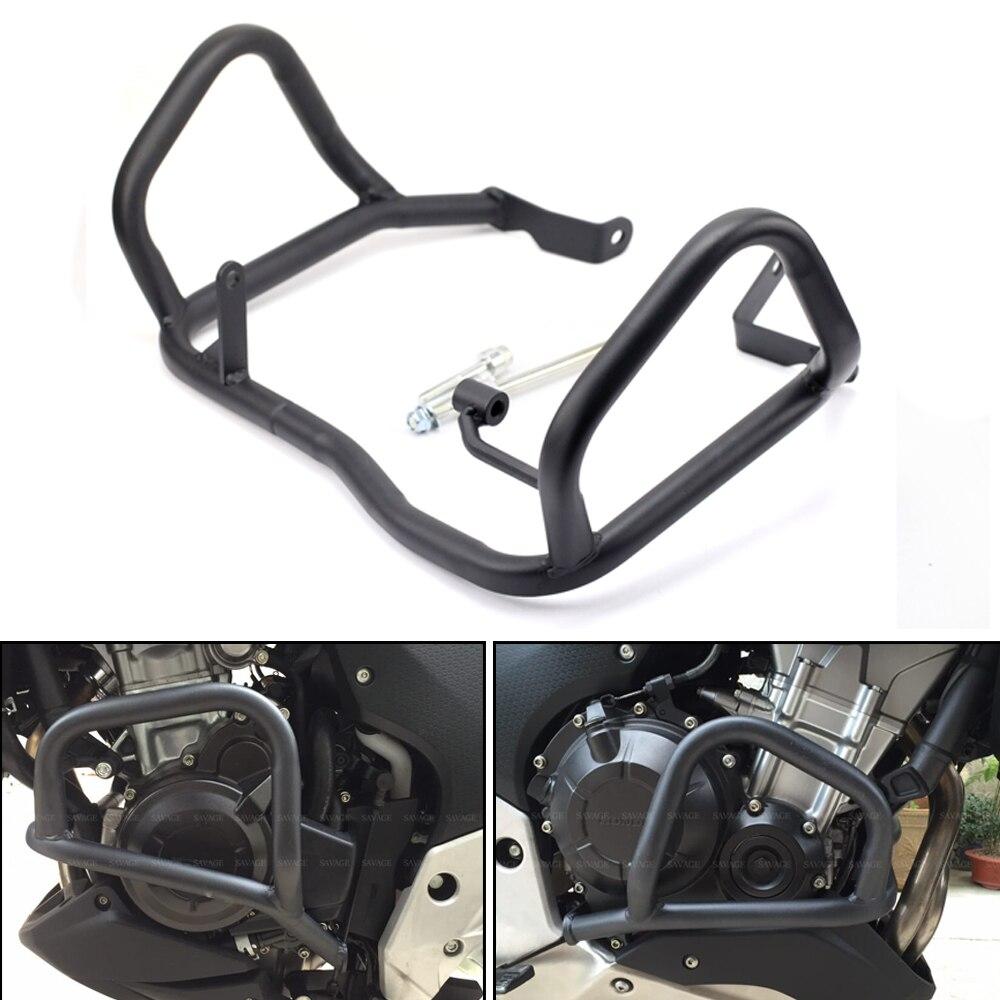 цена For HONDA CB500X CB400X CB500F CB400F 2013-2018 Motorcycle Front Extension Protector Guard Engine Crankcase Crash Bar онлайн в 2017 году