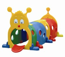 Free shipping kids plastic caterpillar tunnel toy kid plastic play tunnel playground plastic tunnel indoor Drill hole toys