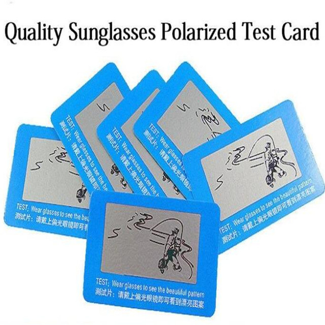 4be80ba7d13 Hot 3 Pc Free Wear Glasses to check Polarized test card help you to check  you Sunglasses Polarized or not CC2522