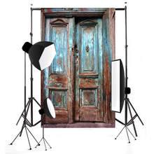 Mayitr 7x5ft Ретро Деревянная Дверь Стена Фото Фон Водонепроницаемый Старая Дверь Винил Студия Фон Реквизит
