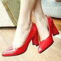 Aiweiyi clásico sexy gatito del dedo del pie puntiagudo tacones altos las mujeres bombean los zapatos de primavera marca diseño zapatos de la boda bombas de gran tamaño 34-43