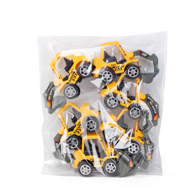 12*6*4.5 ซม. ชุดดึงกลับรถการ์ตูน Mini Inertia Mobile Machinery Shop รถก่อสร้าง Fire รถบรรทุกชุดของขวัญของเล่นเด็ก