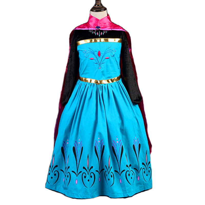 Baby Girls Dress Christmas Anna Elsa Cosplay Costume Summer Dresses Girl Princess Elsa Dress for Birthday Party Vestidos Menina children anna elsa princess birthday dresses cosplay party fancy costume with cape christmas dress child blue red clothes kids