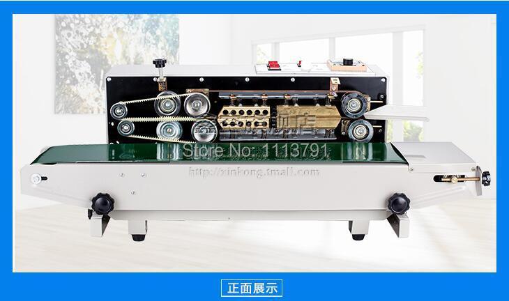 Plastic Bag Soild Ink Continuous Band Sealer  Automatic film sealing machine  Sealing Machine FR 900|sealer food|sealer machinemachine watch - title=