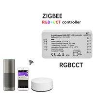 New Led ZIGBEE Led Strip rgb cct Controller 12V 24V lightify tradfri compatible LED RGB CCT controller zll app controller