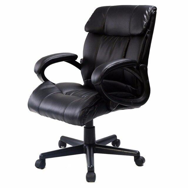 Кожа PU Эргономичный Высокой Спинкой Исполнительный Лучший Стол Задача Офисные Кресла Черный CB10054