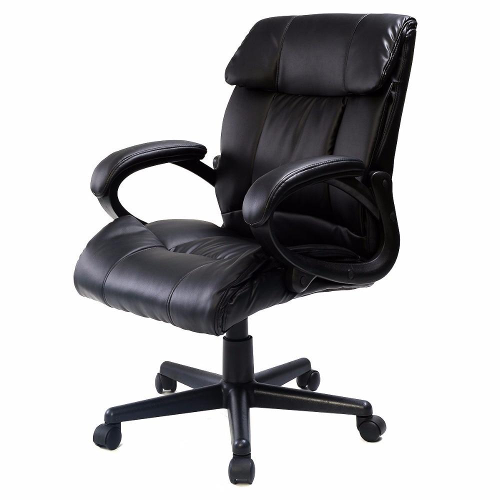 pu leather ergonomic high back executive best desk task office chair black - Ergonomic Chair