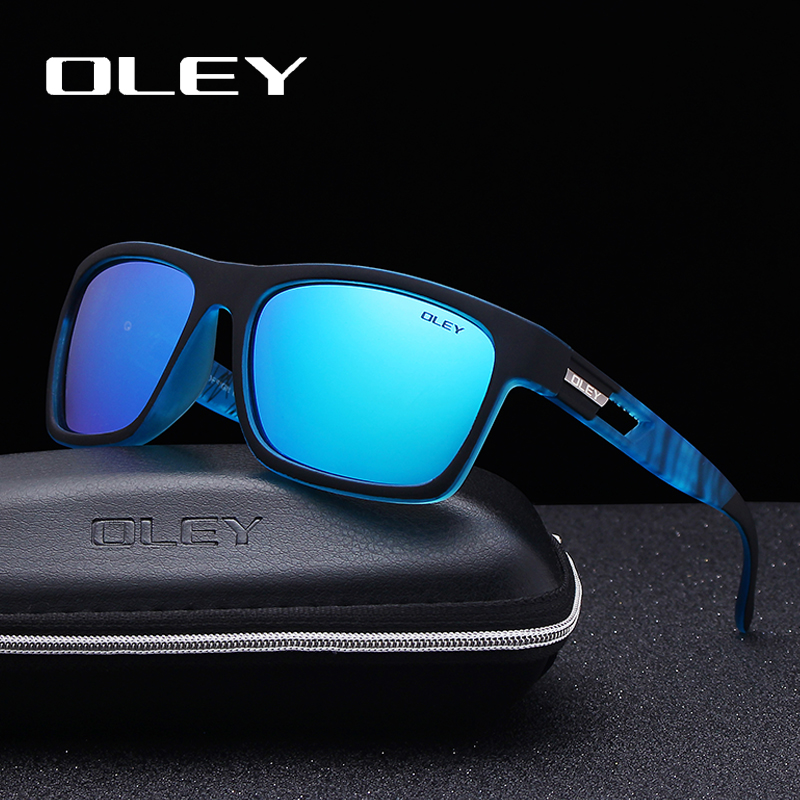 Fashion Guy's Sunglasses From OLEY Polarized Sun Glasses Classic TR90 Women Goggles 7-in-1 Luxury Box Customizable Logo YG203