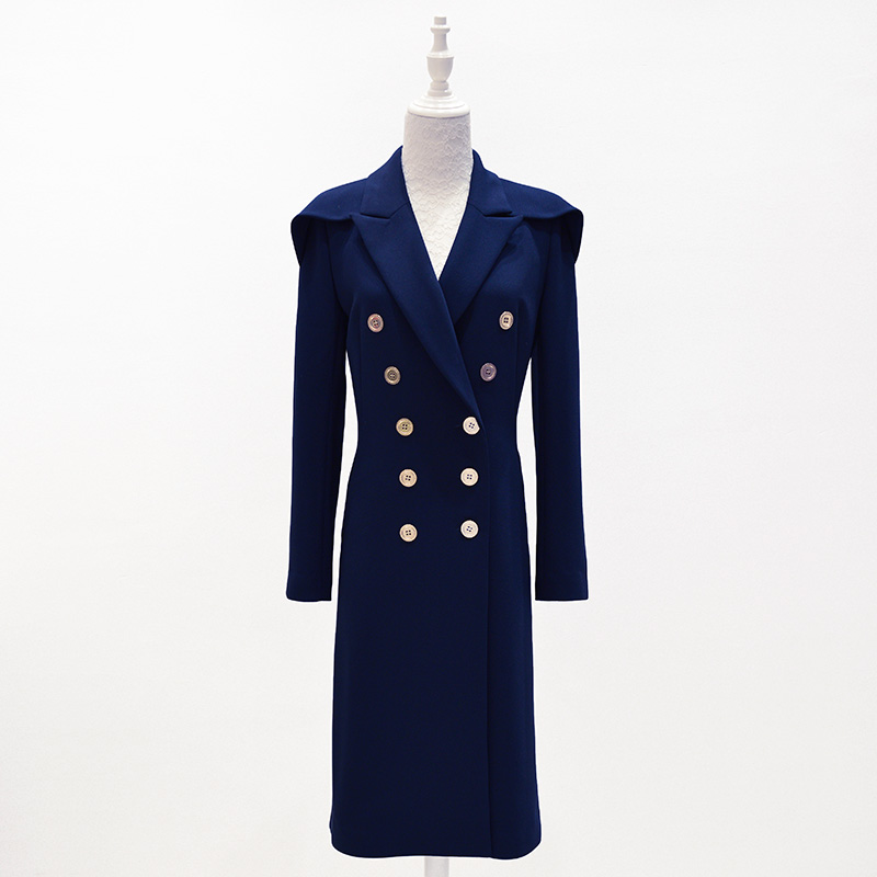 US $137.0 |Mantel weibliche 2017 herbst winter enlgand stil lange woll mode damen temperament stattlichen mantel frauen großhandel in Mantel weibliche