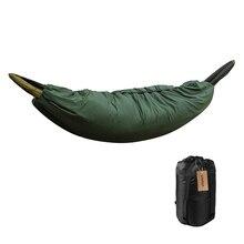 Çok fonksiyonlu kamp hamak uyku tulumu Underquilt hafif kamp yorgan Packable tam boy battaniyenin altında