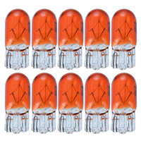 10pcs/set T10 168/W5W Halogen Lights Amber/Orange 12V 5W Wedge Lamp Instrument Light Reading Light
