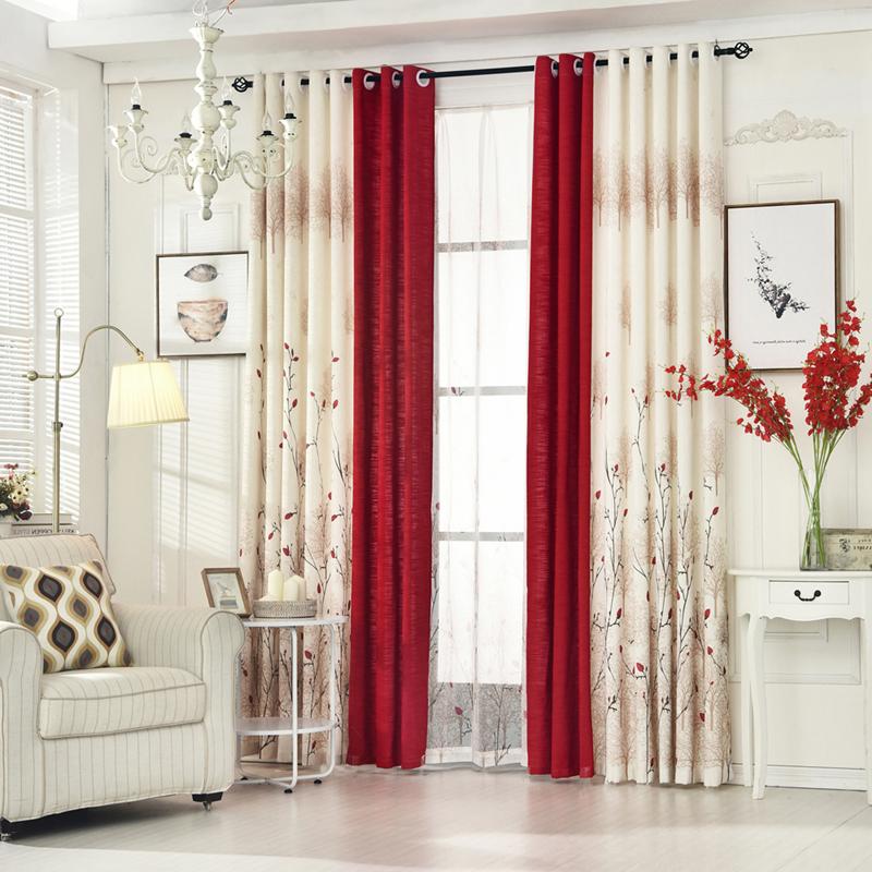algodn y lino byetee saln ventana cortina dormitorio terminado telas cortinas blackout cortinas para la sala